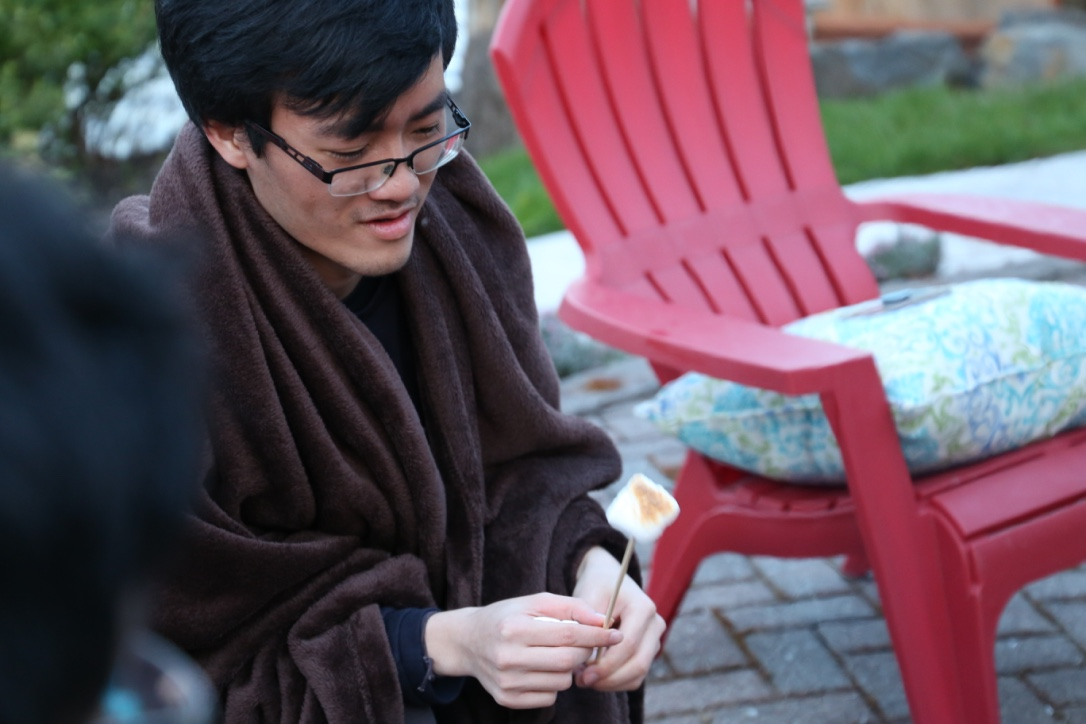Koji roasting marshmellows