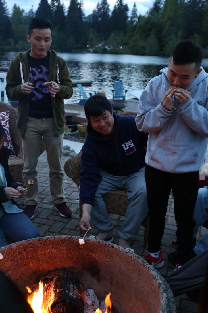 Senior campfire smores