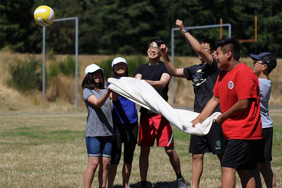 Team blanket volleyball
