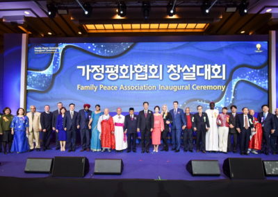 Leaders from around the world voice support for Family Peace Association.
